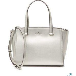 NWT Kate Spade silver Geraldine bag